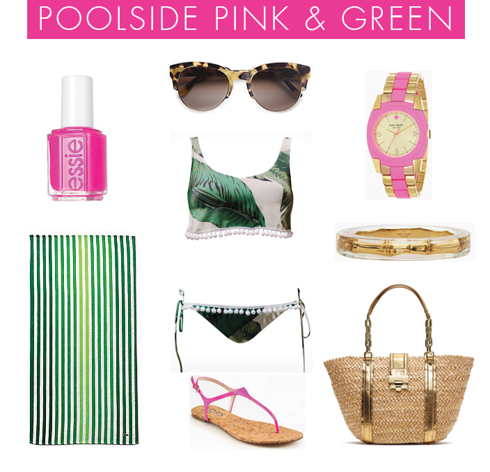 Pink-Green-Pool-Outfit