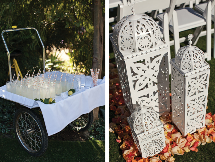 Amberly+Scott-Parker-Palm-Springs-Wedding-Beverage-Cart-Morrocan-Lanterns