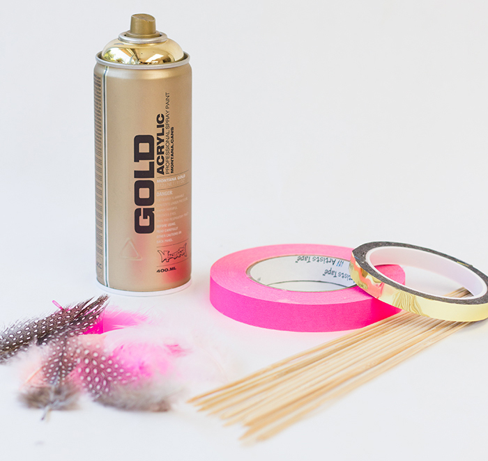 DIY-Feather-Drink-Stirrers-Supplies