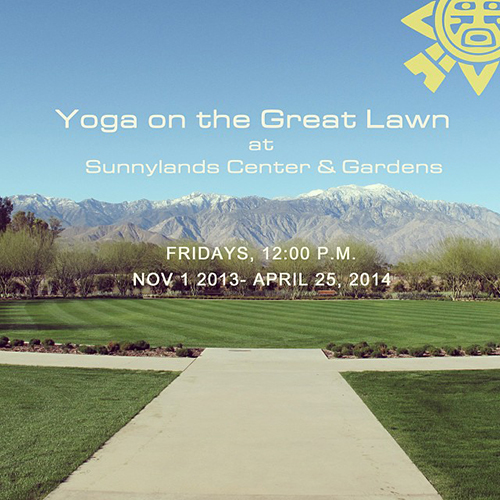 Yoga At Sunnylands Palm Springs Style
