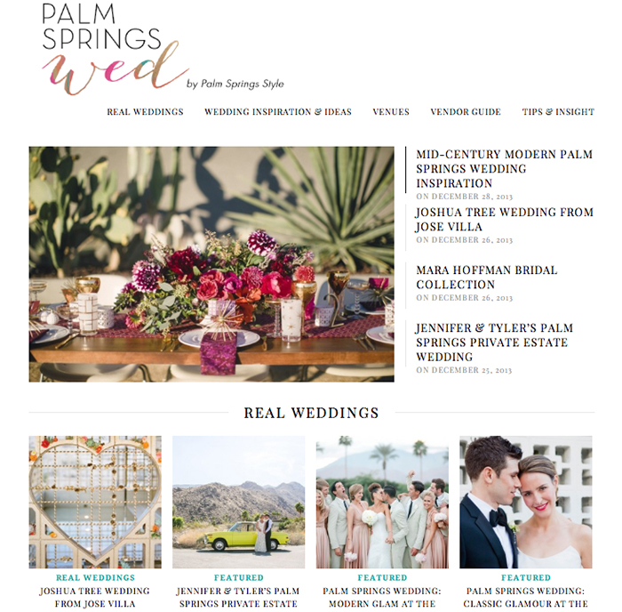 Palm Springs Wed - The Palm Springs Wedding Blog