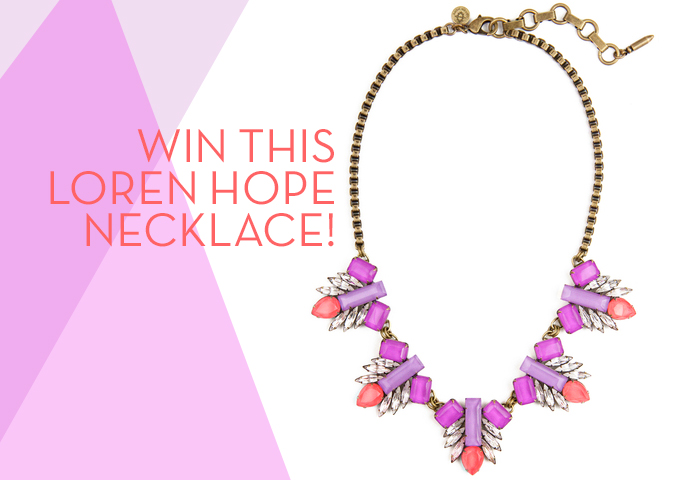 Loren Hope Pippa Bibb Necklace in Saffron - Palm Springs Style