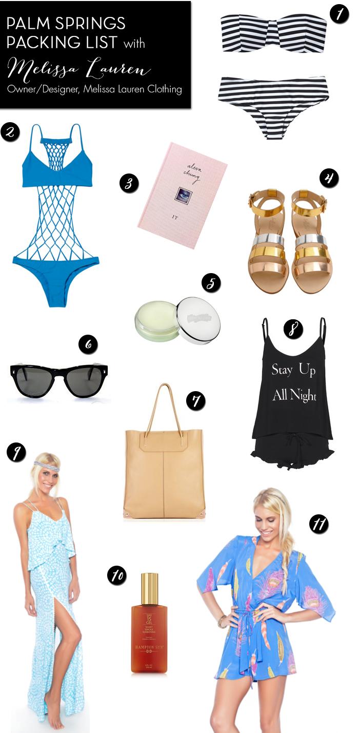 Palm Springs fashion - Palm Springs Packing List - Melissa Lauren