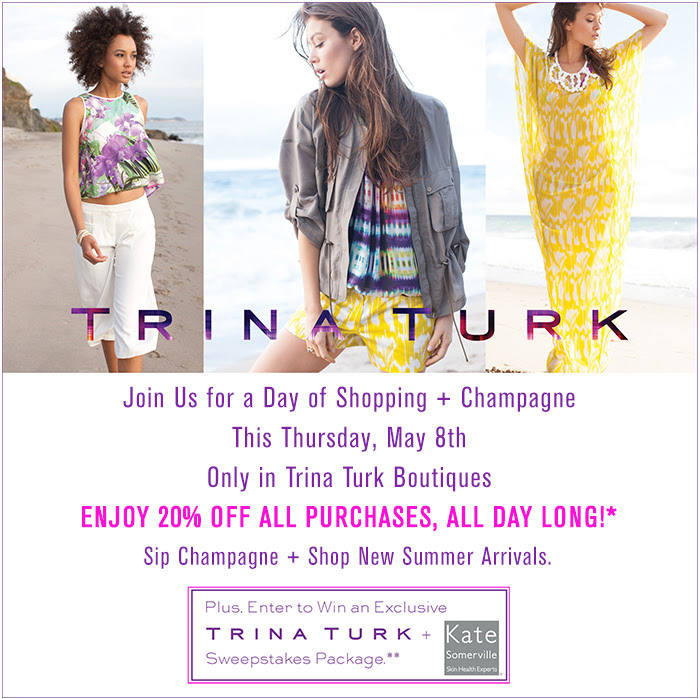 Shopping & Champagne at Trina Turk