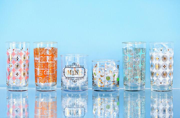 Bombshell Bar Goods Mid-Century Modern Inspired Glassware