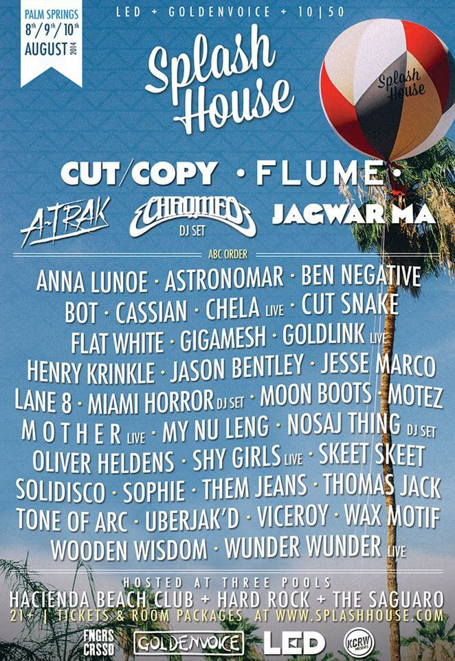 Splash House August 2014 Lineup