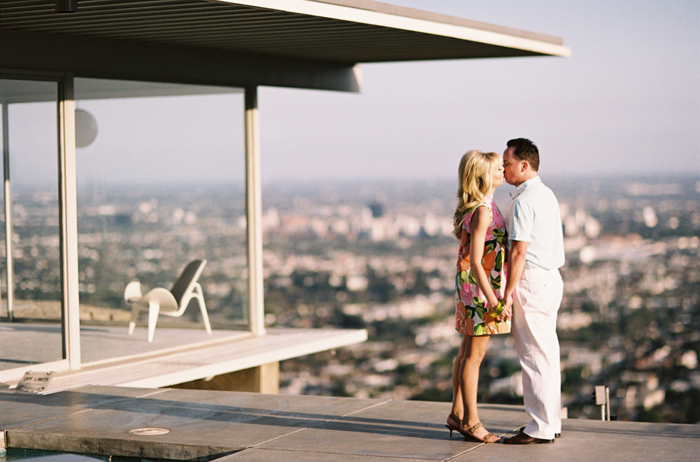 mid-century modern engagement session