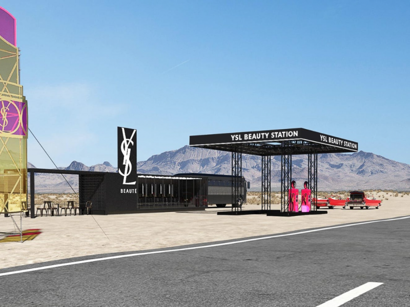 YSL Beauty Station in Palm Springs during Coachella 2019